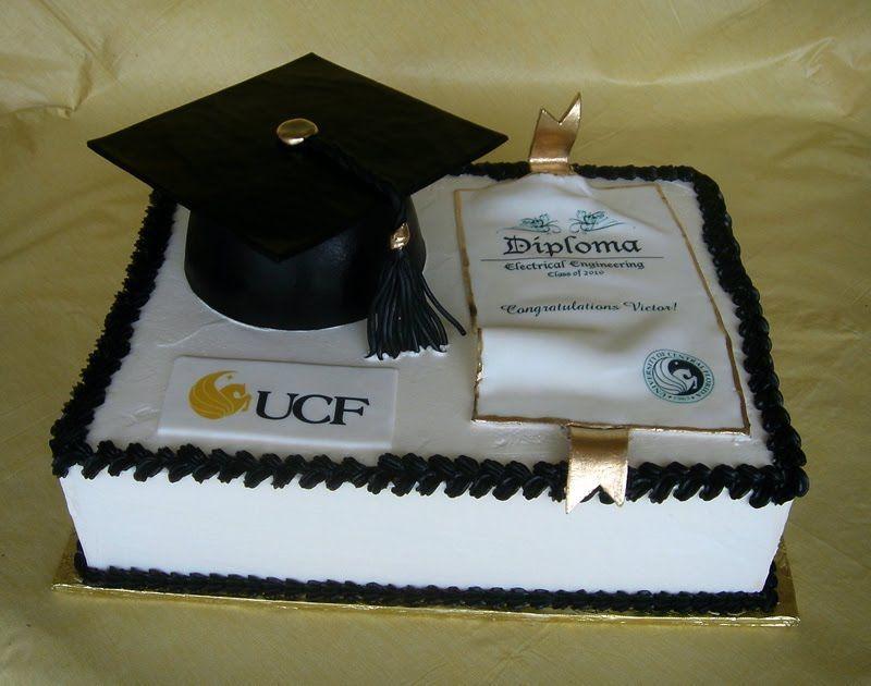 Graduation Cake Recipes Pictures : Graduation Cake Ideas For UCF Student cakepins.com Cake ...
