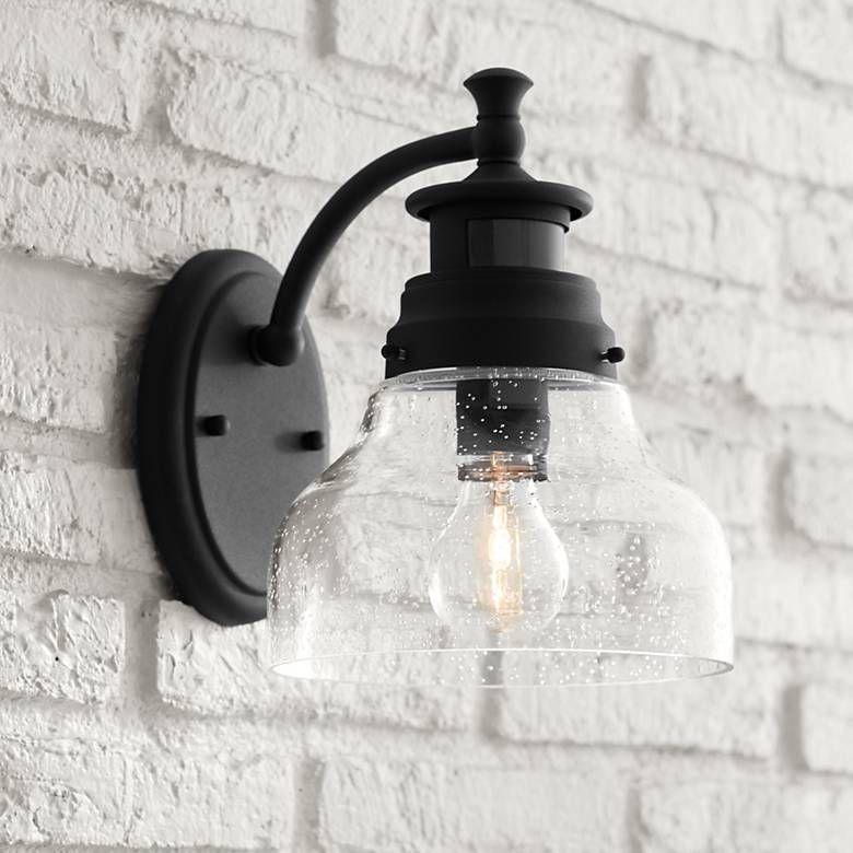 Nobel 10 High Black Motion Sensor Outdoor Wall Light 42f48