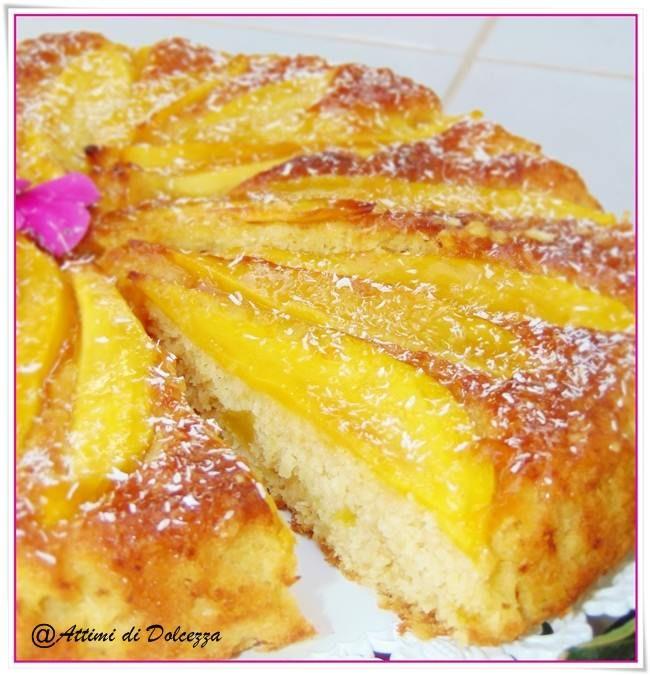 TORTA UMIDA AL MANGO E COCCO / WET CAKE WHIT MANGO AND COCONUT