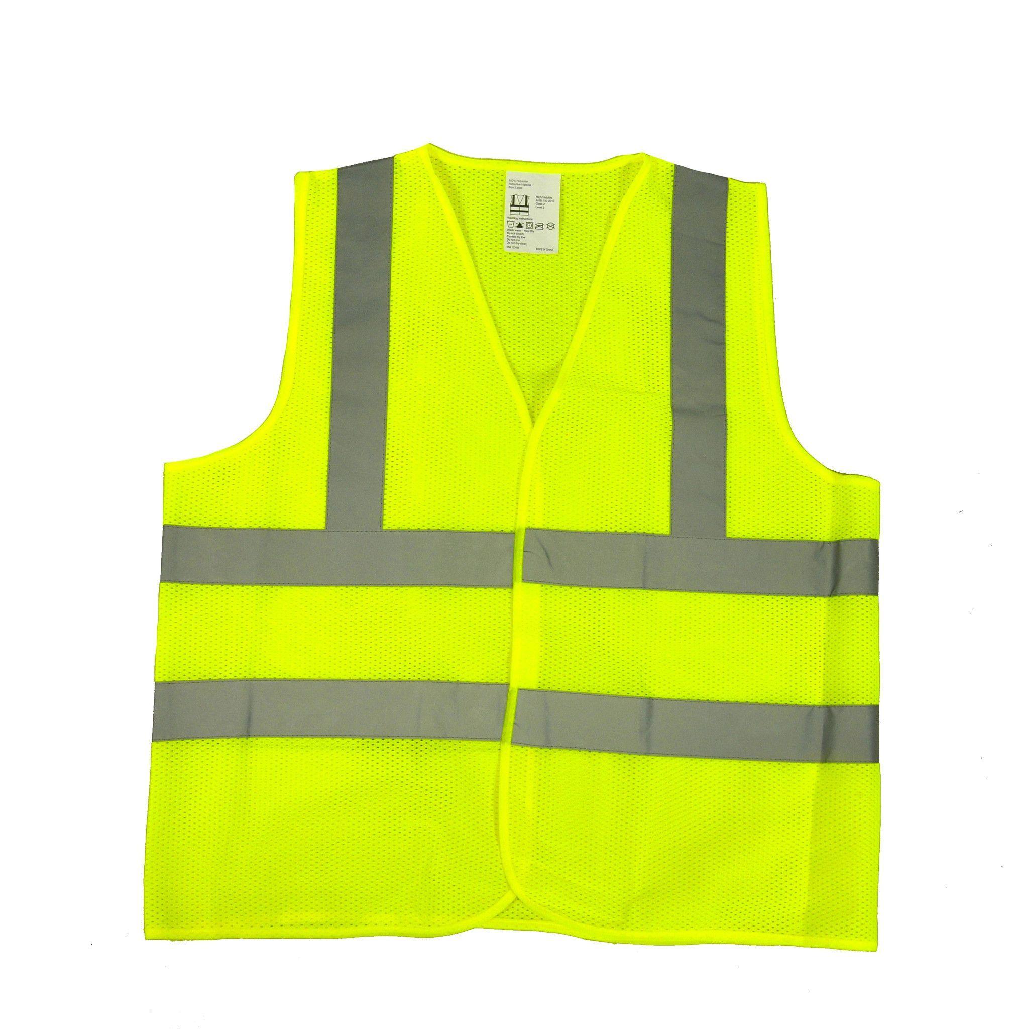High visibility flourescent safety vest class 2 mesh