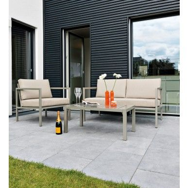 #24Designs 4 persoons #Lounge #Tuinset Venice Deluxe - #Textilene® #all weather
