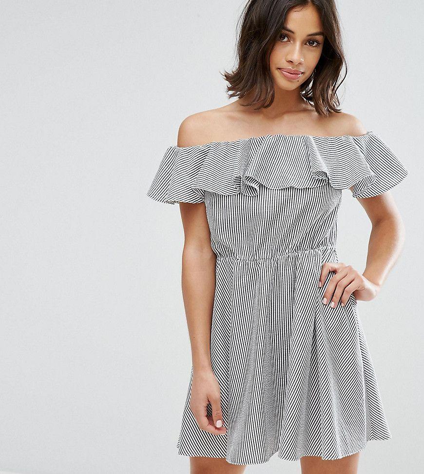 Miss Selfridge Petite - Bardto-Minikleid mit Rüschen - Mehrfarbig ...