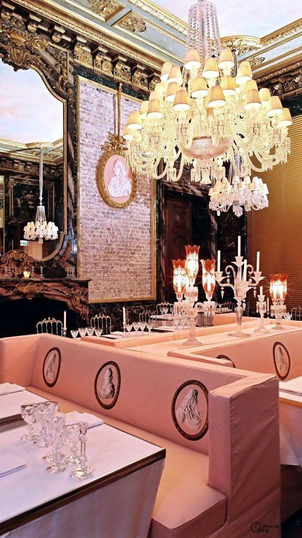La Cristal Room Baccarat Located On The First Floor Of The Baccarat Museum In The 16th Arrondissement Paris Crystal Room Paris Restaurants Restaurant Design