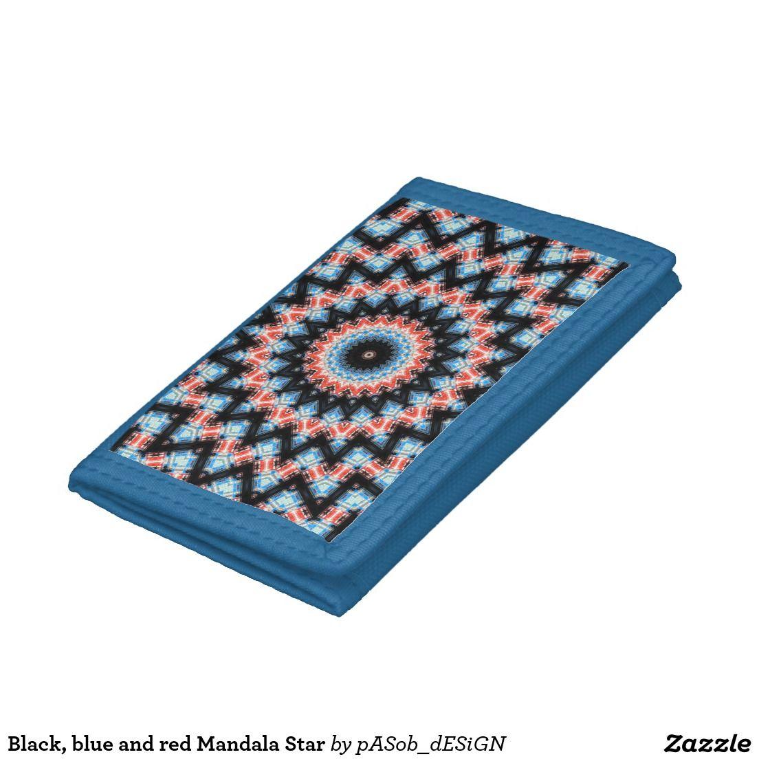 Black, blue and red Mandala Star