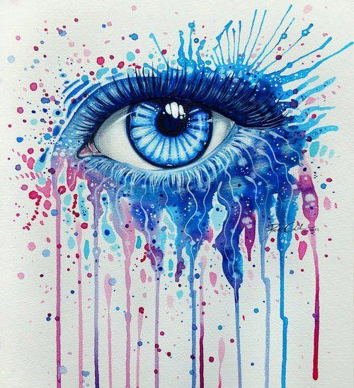 pics for beautiful eyes drawing with color - Color Drawings