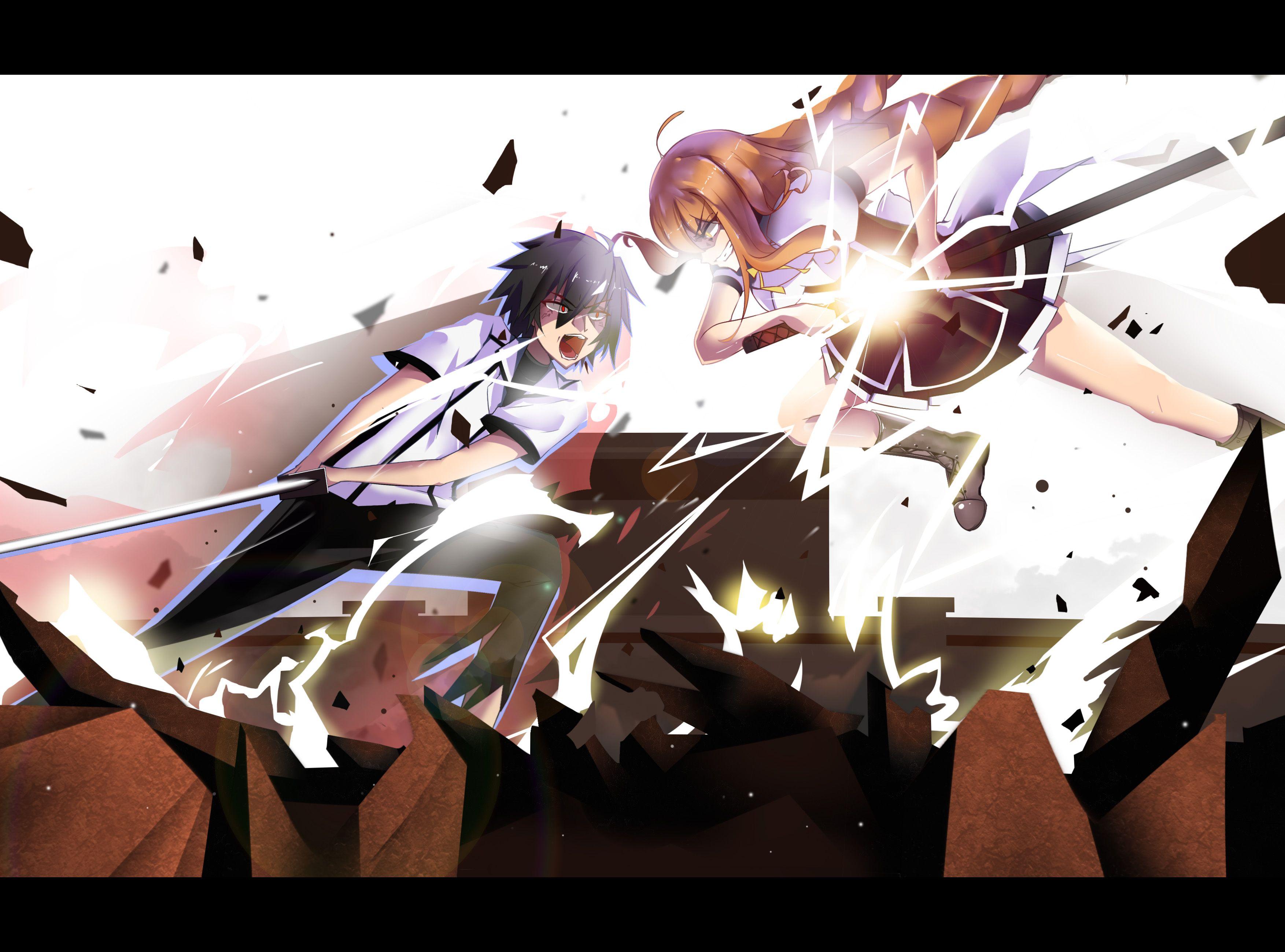 Anime Chivalry Of A Failed Knight Ikki Kurogane Tohka Todo
