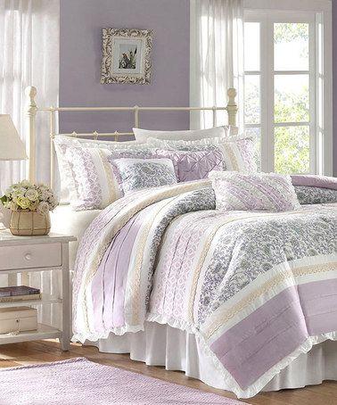 Take A Look At This Lilac Sasha Comforter Set By Jla Home On