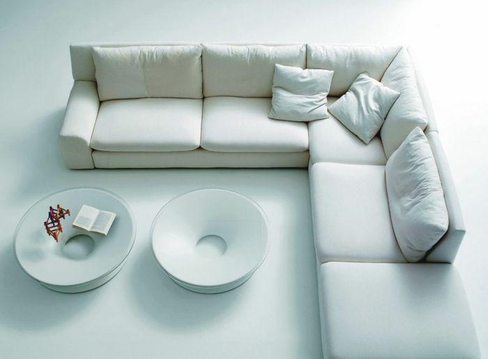 ecksofa in weiß fürs wohnzimmer Möbel - Designer Möbel - wohnzimmermobel weis
