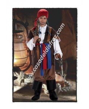 Disfraz de Pirata Corsario del Caribe para niños.  DisfracesOirignales   Disfraces www.casadeldisfraz 1113f519618