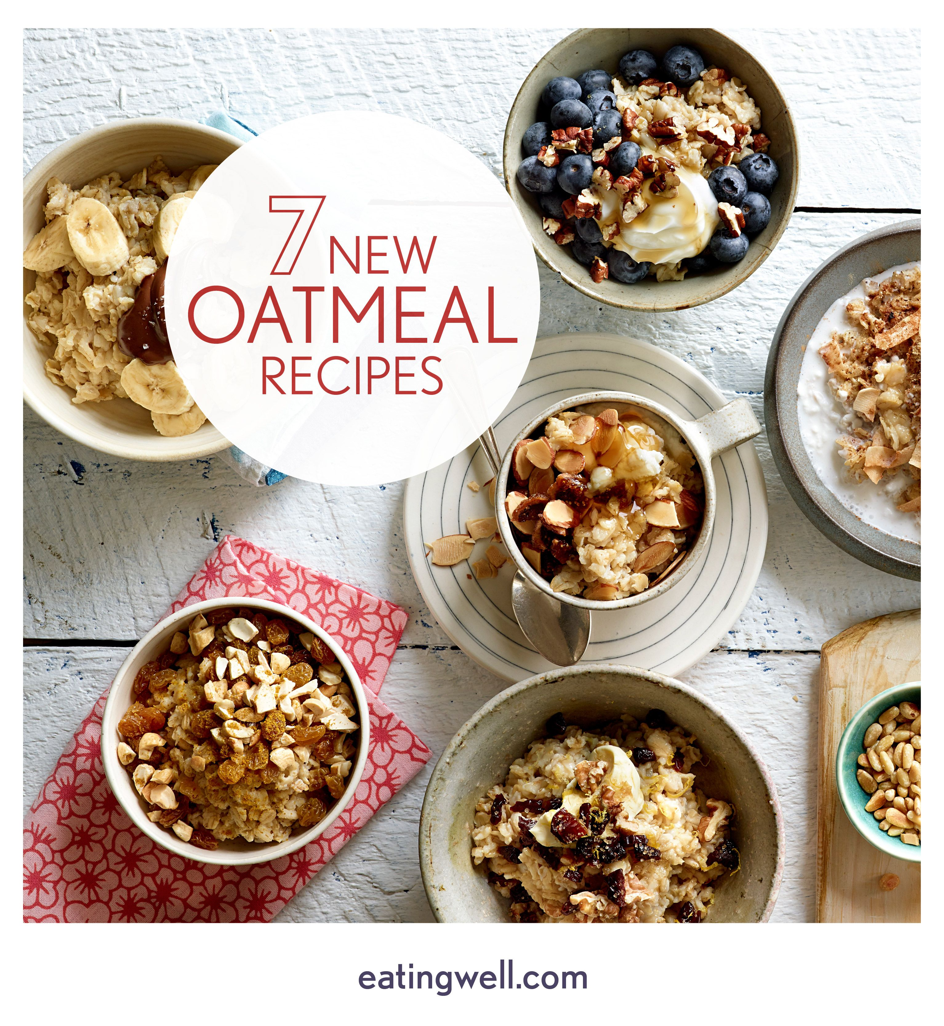 Oatmeal is one of the healthiest breakfasts of all time. But it doesn't have to be drab and boring. We have flavorful recipes to mix it up every day of the week.