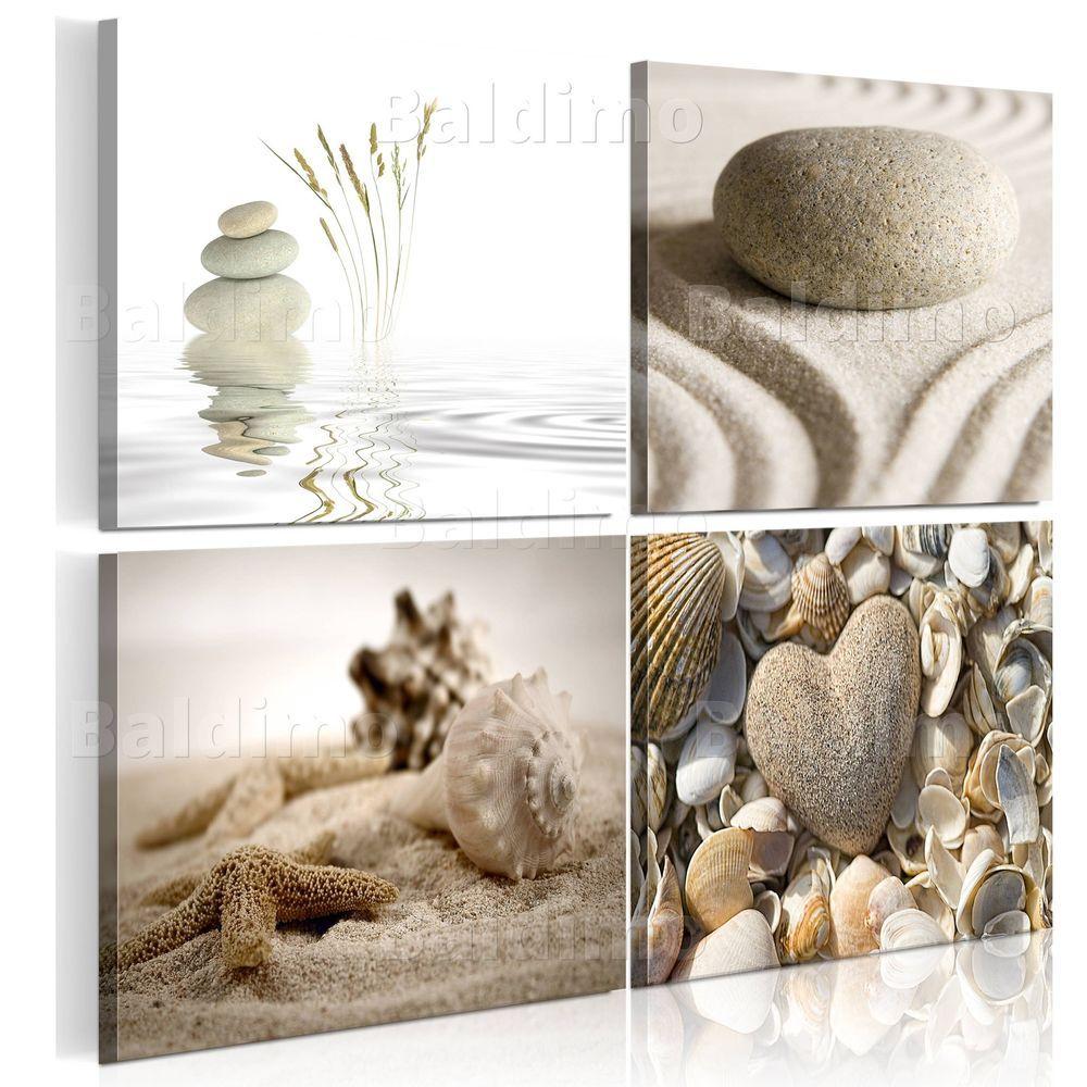 Natur Steine Spa Zen Sand Muscheln Wandbilder Xxl Bilder Vlies Leinwand 9060093 Ebay
