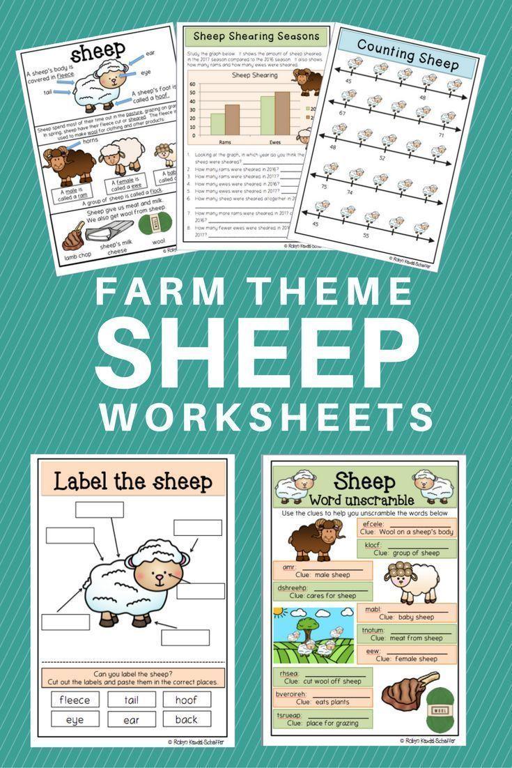 Farm Theme: Sheep Pack Reading, Writing, Language and Math | THE ...