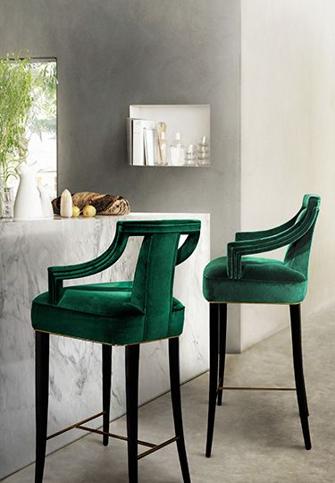 its ALL about these emerald bar stools! BAR via Veronica ...