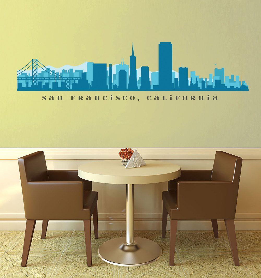 SAN FRANCISCO Skyline Wall Decal California Vinyl Art Business Decor ...