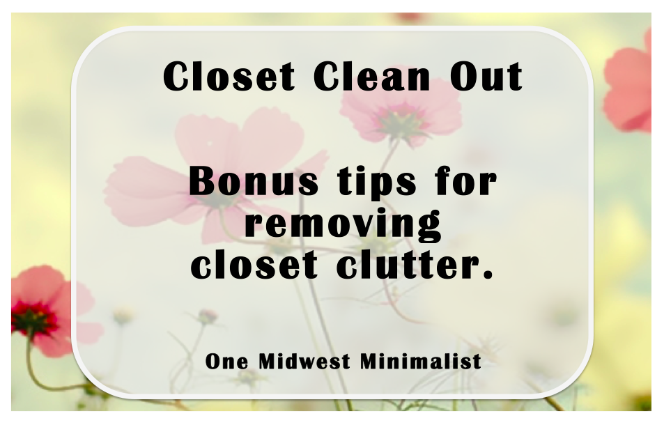How is your spring cleaning going? Here are a few bonus tips to declutter your wardrobe/closet.