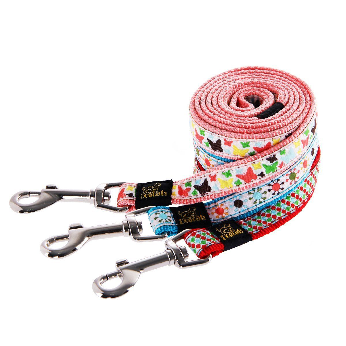 Gocooper girl blue cute unique dog collars and leashes set