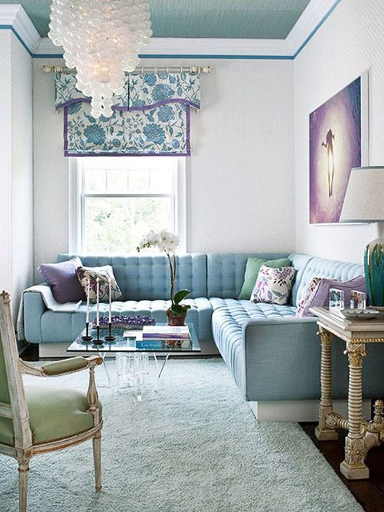 Art In Homes Tuesday Soft And Delicate Melissa Mercier Lavender Living Rooms Small Living Room Design Room Colors #pastel #living #room #colors