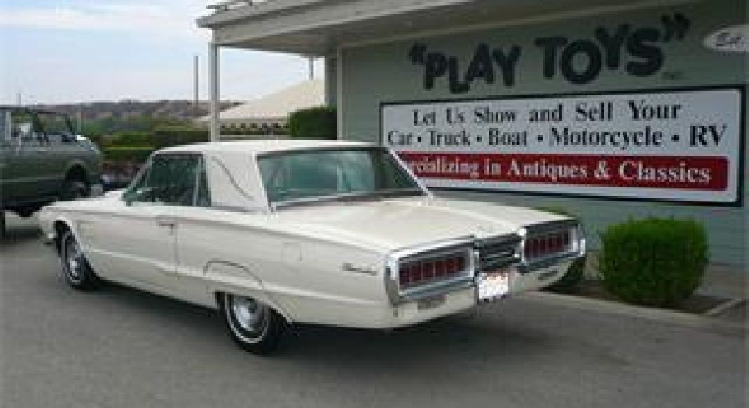 1965 Ford Thunderbird, White with Beige & Brown Interior, with Landau Roof.