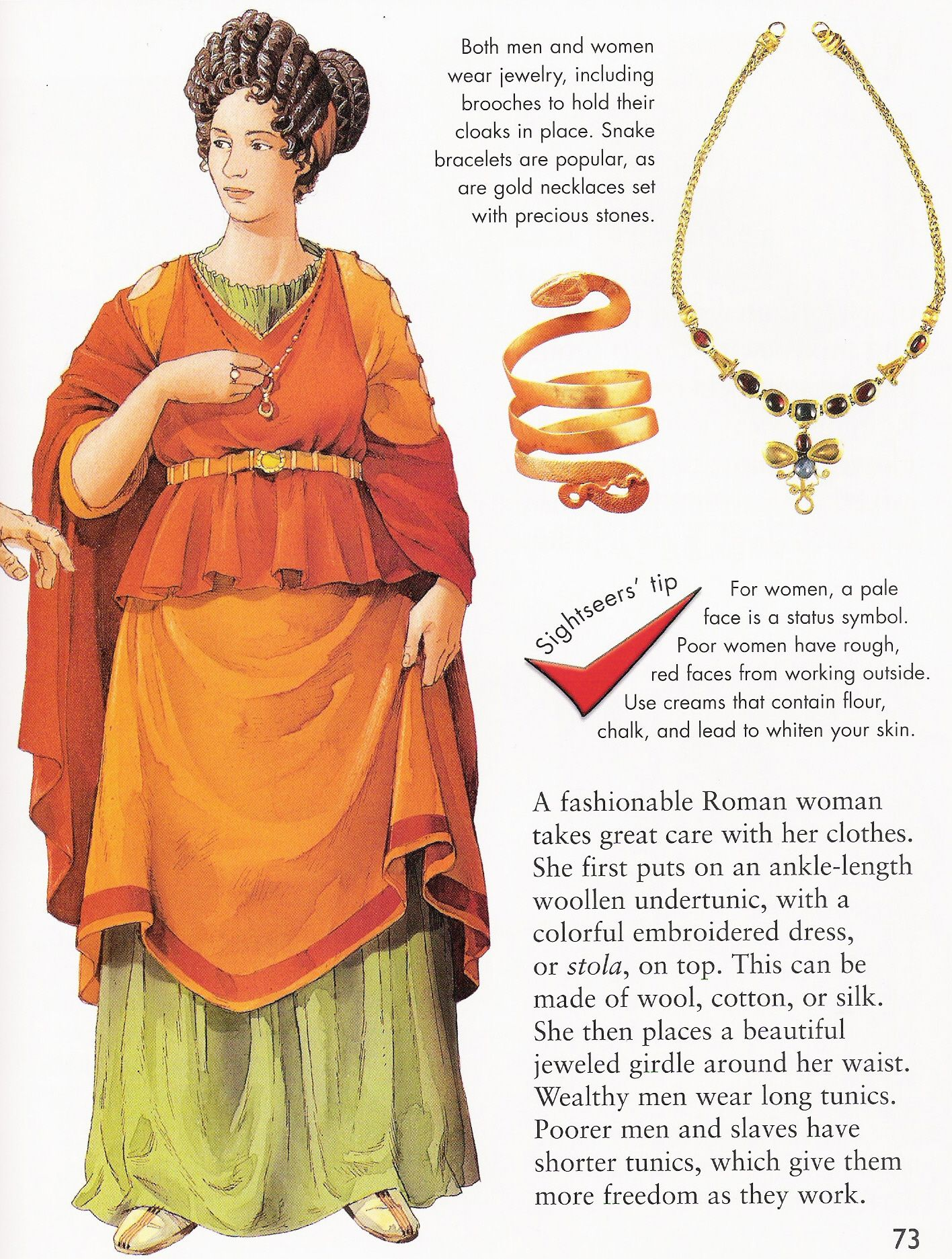 Ancient roman clothing for women
