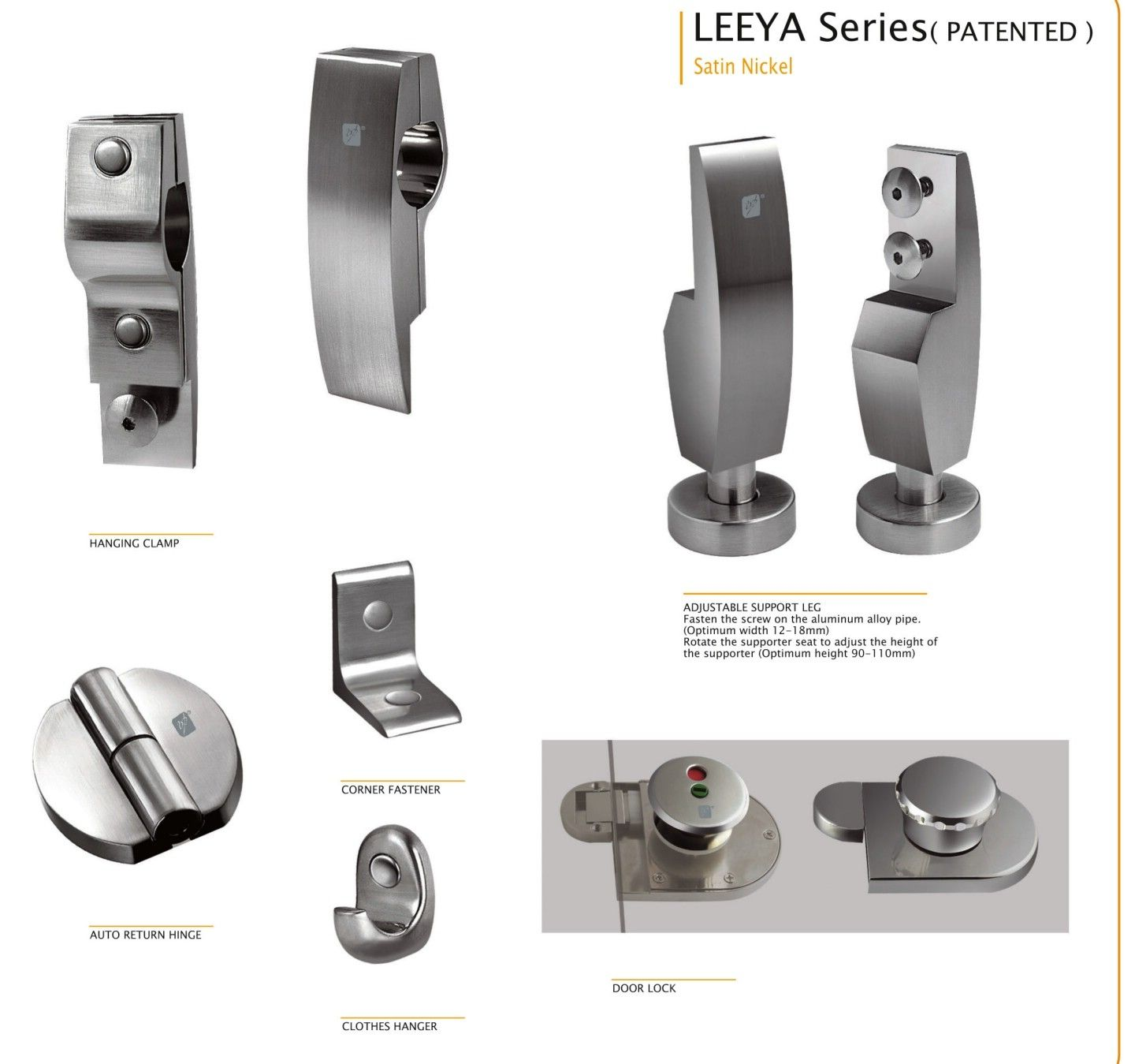 Hpl Toilet Partition Accessories Hardware Leeya Series View