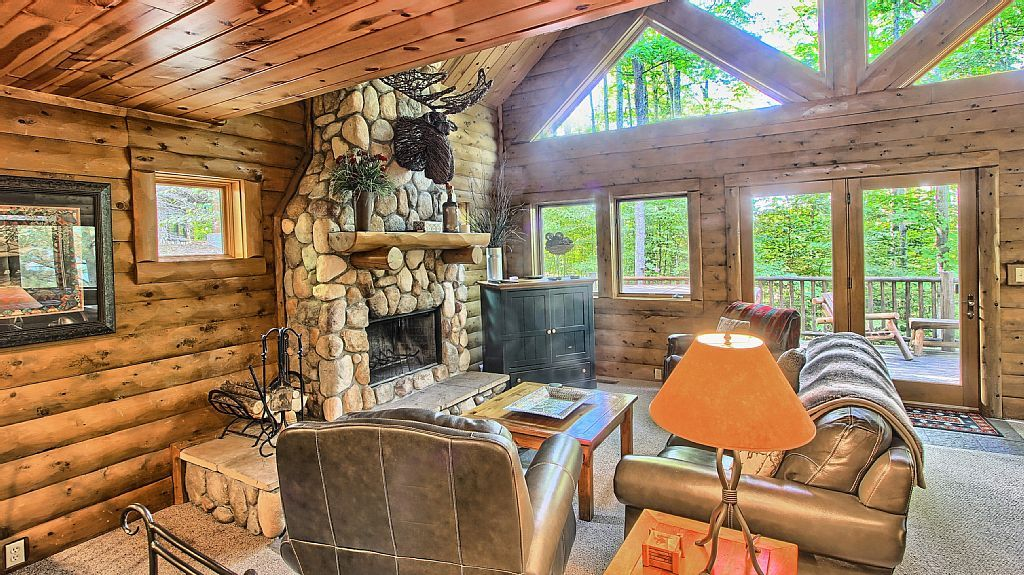 3br Mountain Cabin Skier And Golfer Paradise Private Sleeps 8 Boyne Falls Cabin Boyne Falls Mountain Cabin