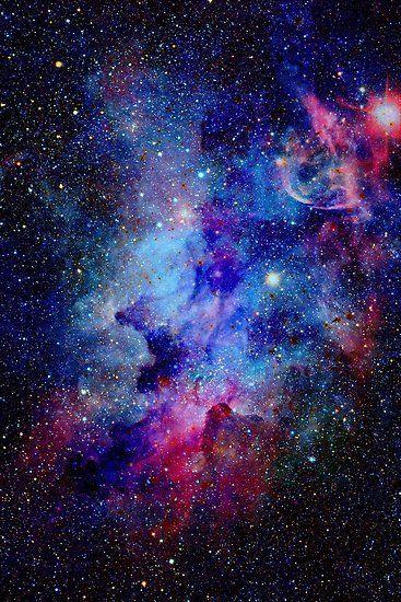 Blue Glitter Star Galaxy Artwork Poster