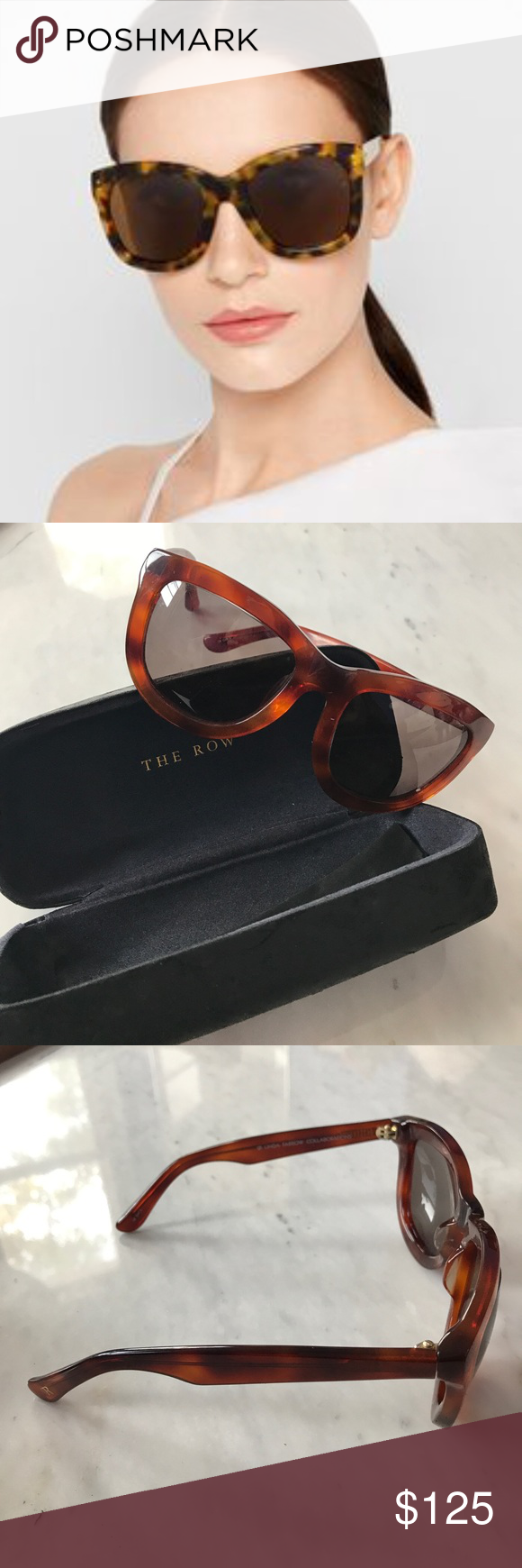bb1a30a6582 The Row x Linda Farrow Sunglasses Limited edition collection -  collaboration between The Row and Linda Farrow. Gentle loved but no  scratches or signs of ...