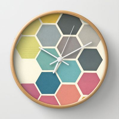Honeycomb II Wall Clock