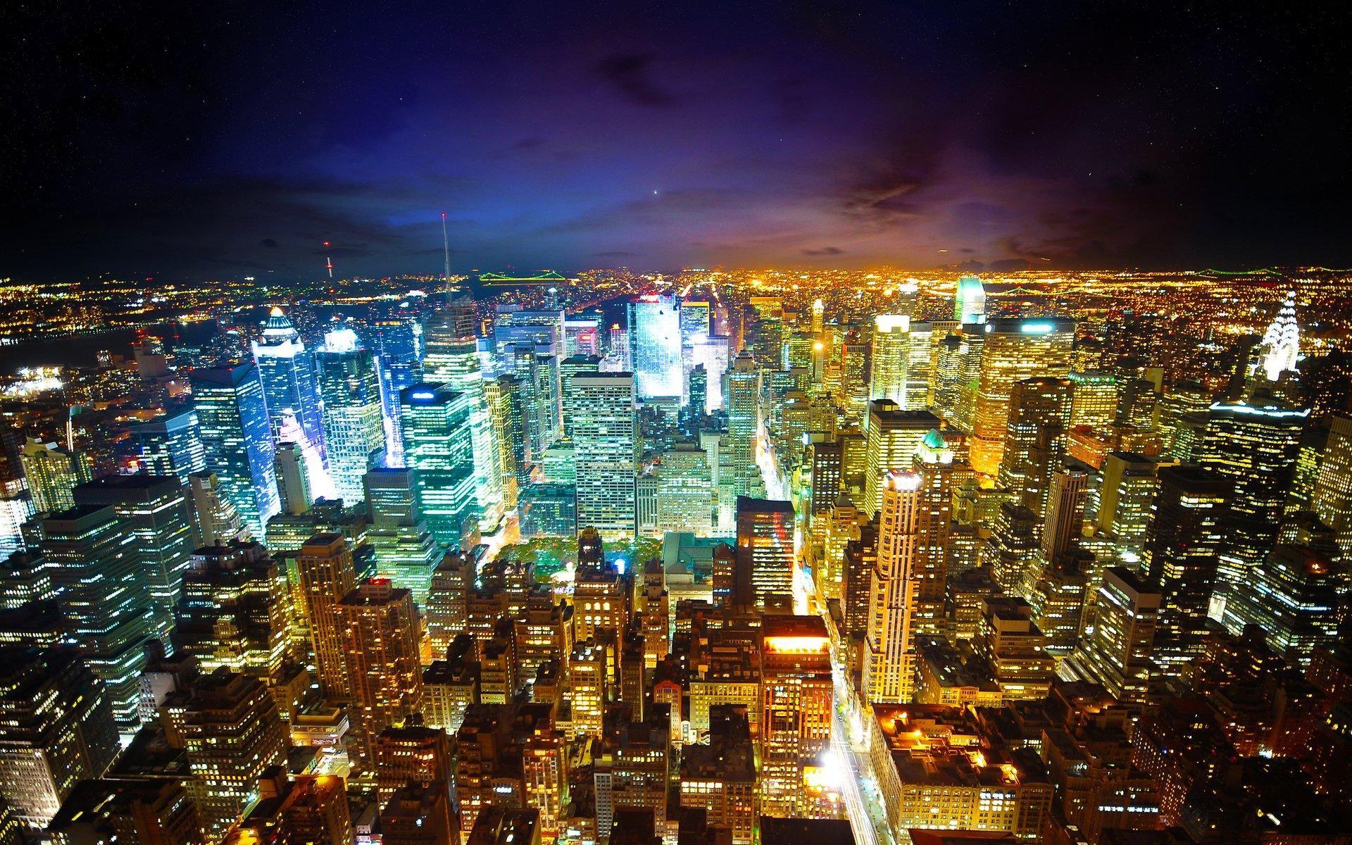 Night City Wallpaper Hd City Lights At Night City