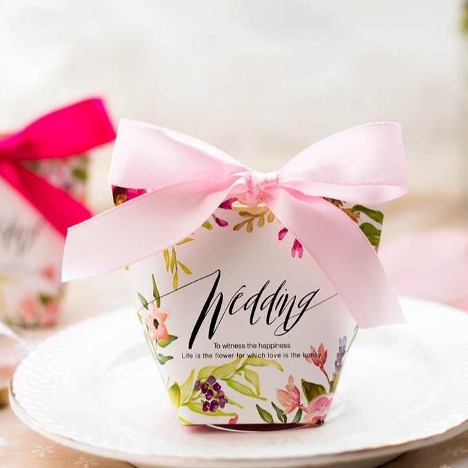 Wedding Ideas For 30 Guests: 30 Pcs Floral Printed Wedding Favors Candy Boxes With