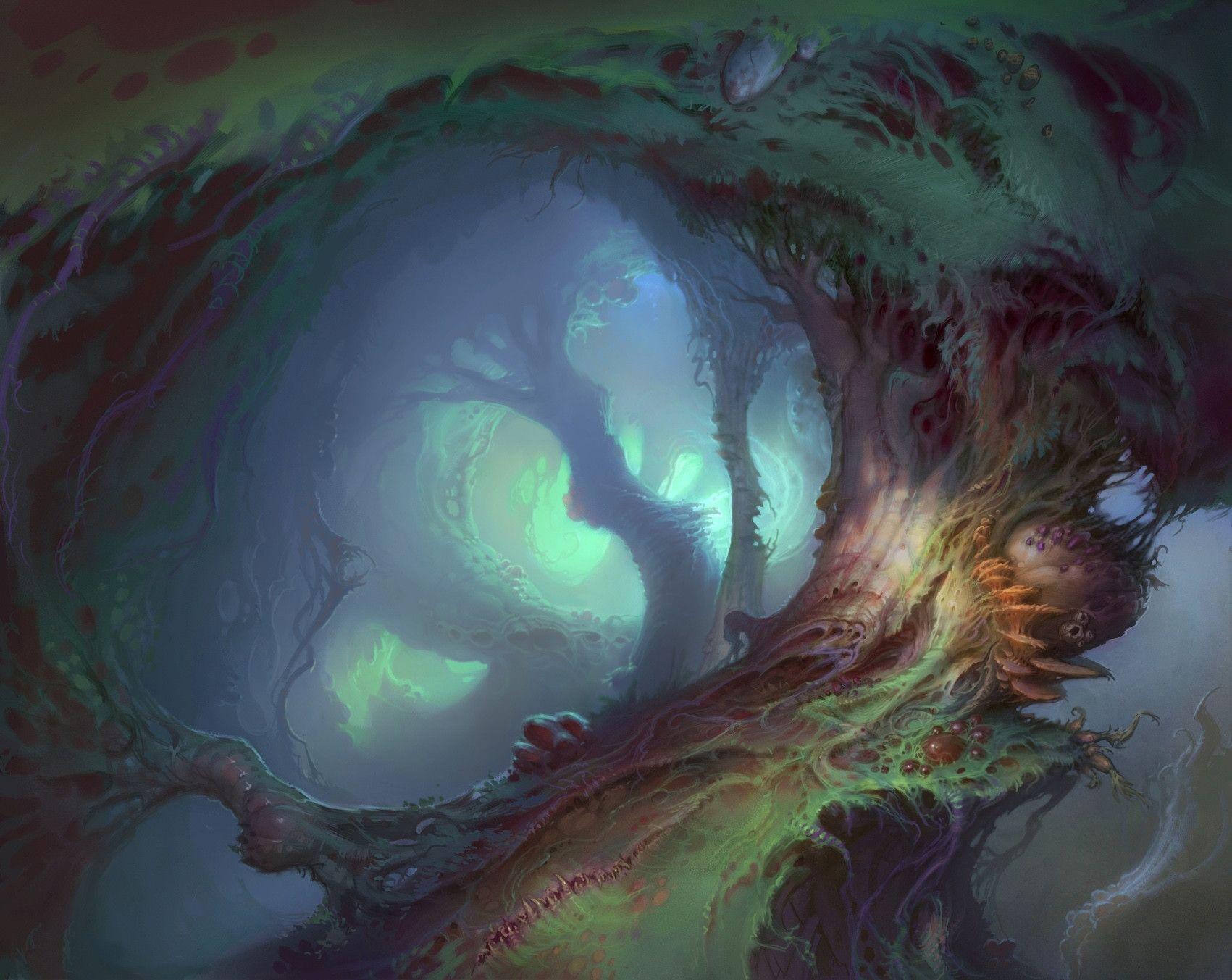 ArtStation - Jabberwocky: Twisted Swamp, Sam Nielson