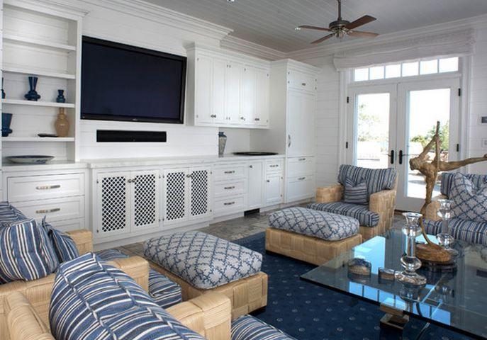 deco salon moderne bleu. Black Bedroom Furniture Sets. Home Design Ideas