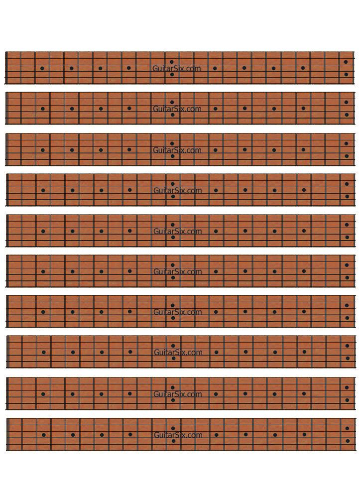 Rosewood Guitar Neck Diagram Paper Guitar Chords Pinterest