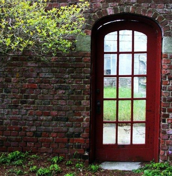 Red Door Greenhouses Garden Structures by DragonflyPhotography, $15.00