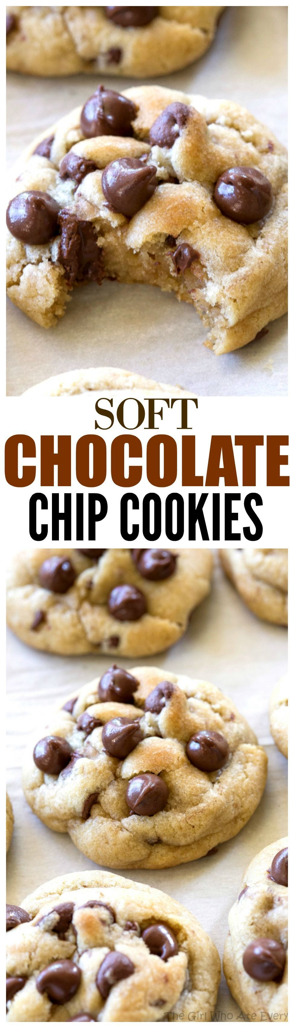 Chip Cookies Chocolate Chip Cookies - a tried and true recipe with a secret ingredient to keep them soft! the-girl-who-ate-Chocolate Chip Cookies - a tried and true recipe with a secret ingredient to keep them soft! the-girl-who-ate-