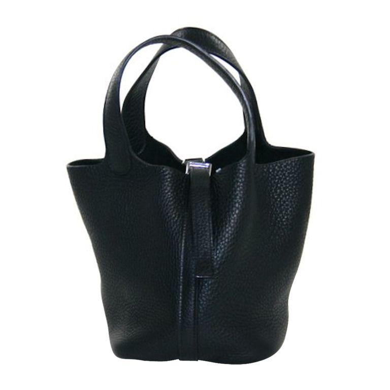 Hermès Black Clemence Leather Picotin MM | Dream closet