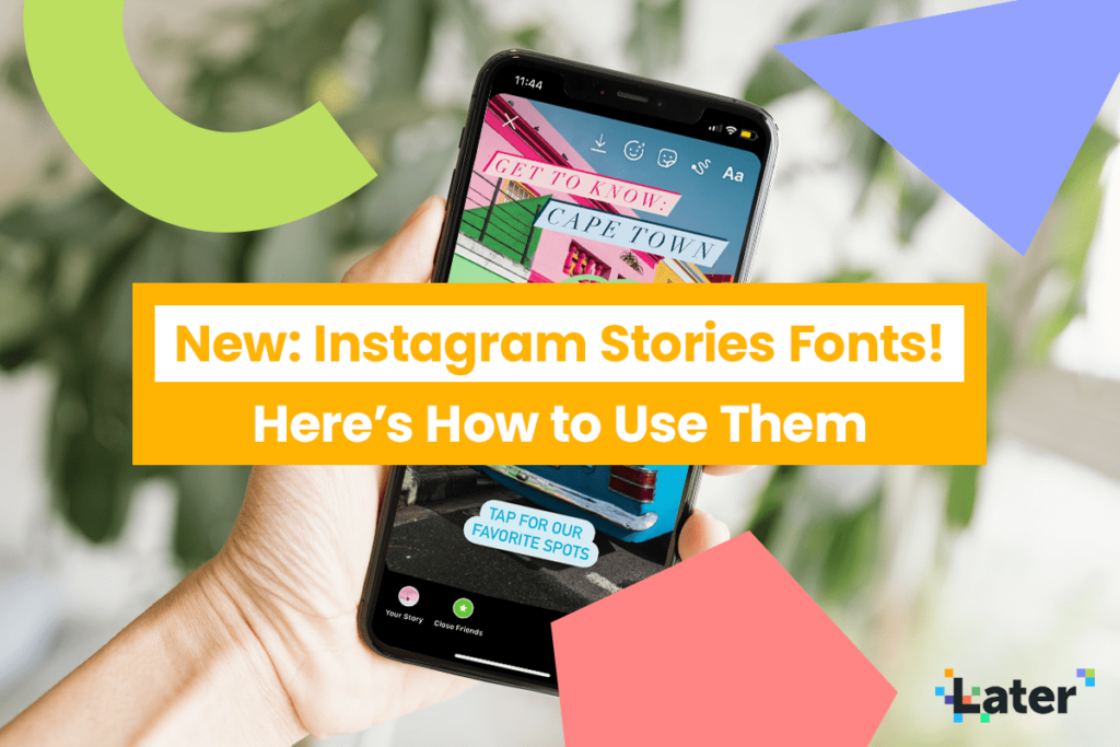 Discover The New Instagram Stories Fonts How To Use Them Later Blog Instagram Story New Instagram Instagram