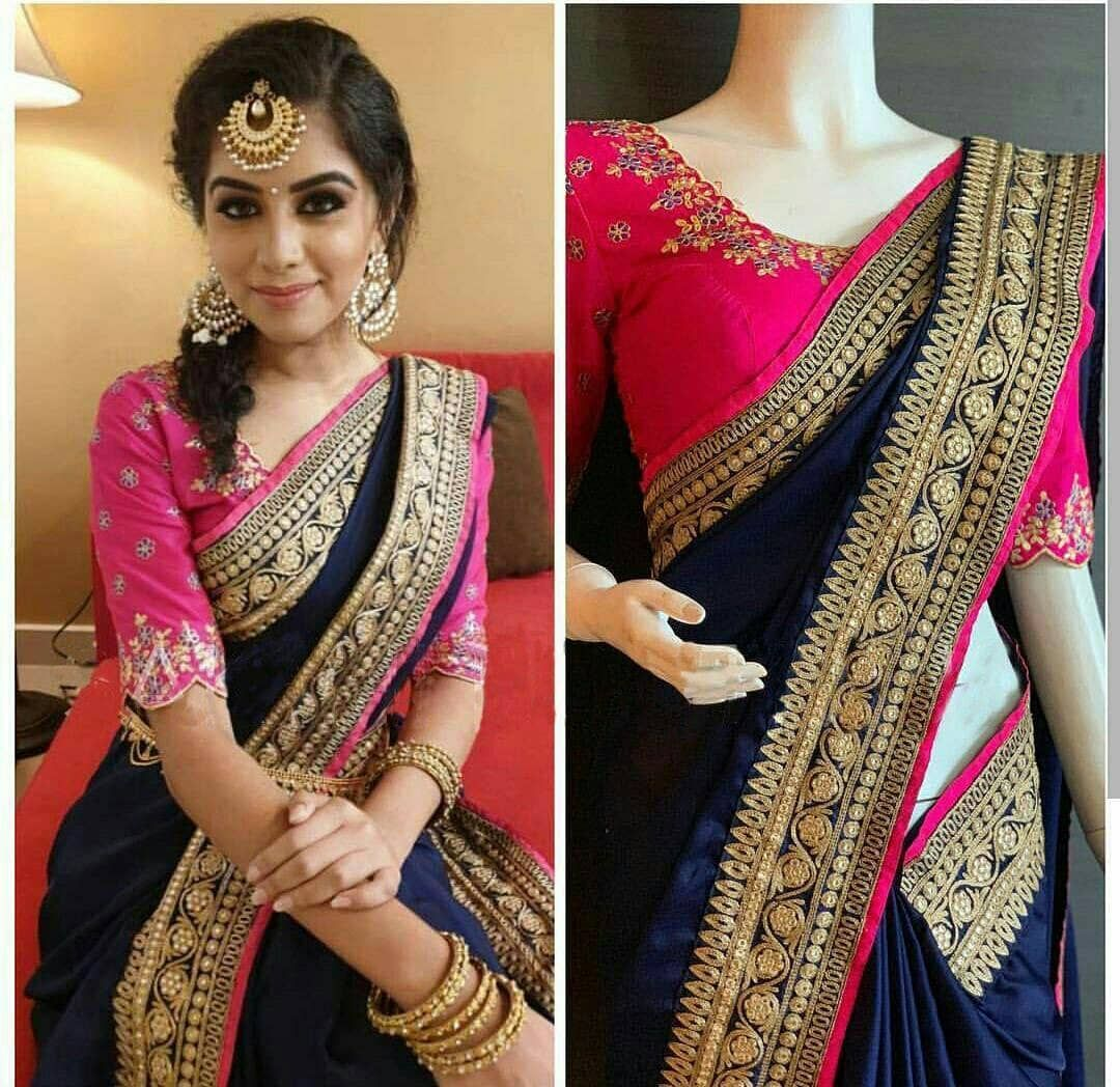 New Launching Ds Rfs05fabric Paper Silkheavy Chain Embrodery Lace With Diamond Work Blouse Banglory Blou In 2020 Fancy Sarees Party Wear Fancy Sarees Stylish Sarees