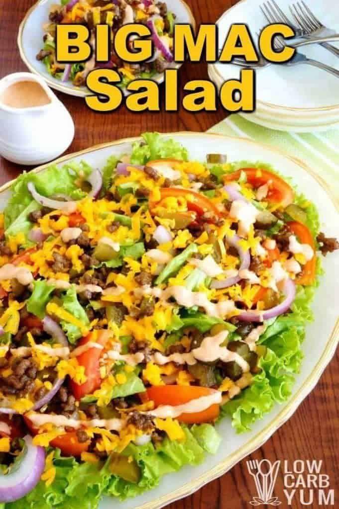 Big Mac Salad - Keto Cheeseburger Salad   Low Carb Yum