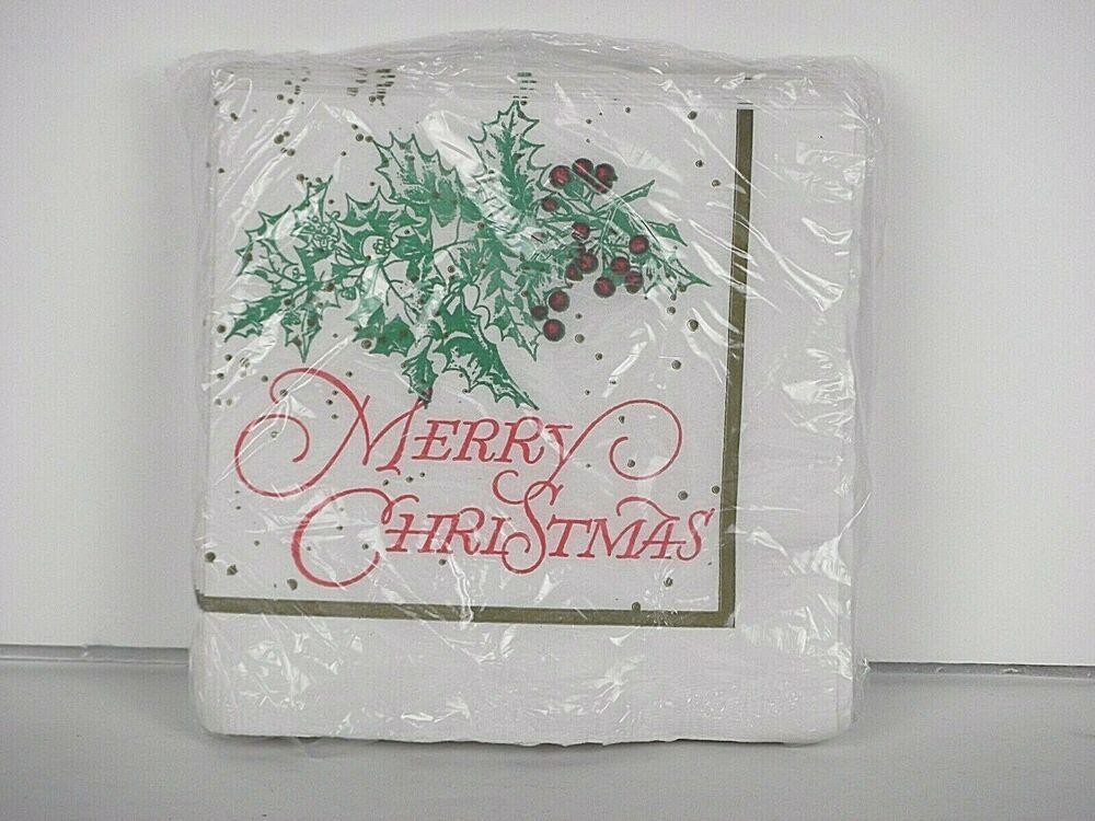 Merry Christmas Vintage Gibson Paper Napkins Decoupage