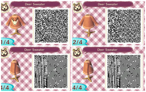 Acnl Qr Code Deer Sweater Animal Crossing Animal Crossing Qr