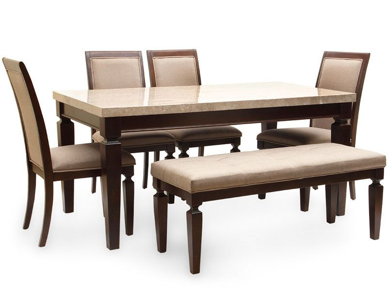 Bliss Marble Top Six Seater Dining Table By