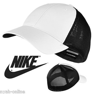 41dc1742c69 New nike mesh baseball cap   black  plain flexfit golf  swoosh  fitted peak  hat…