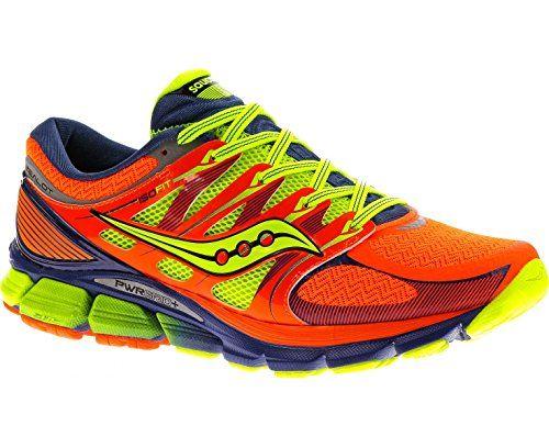SAUCONY ISO Zealot Men's Running Shoe, Orange, UK9