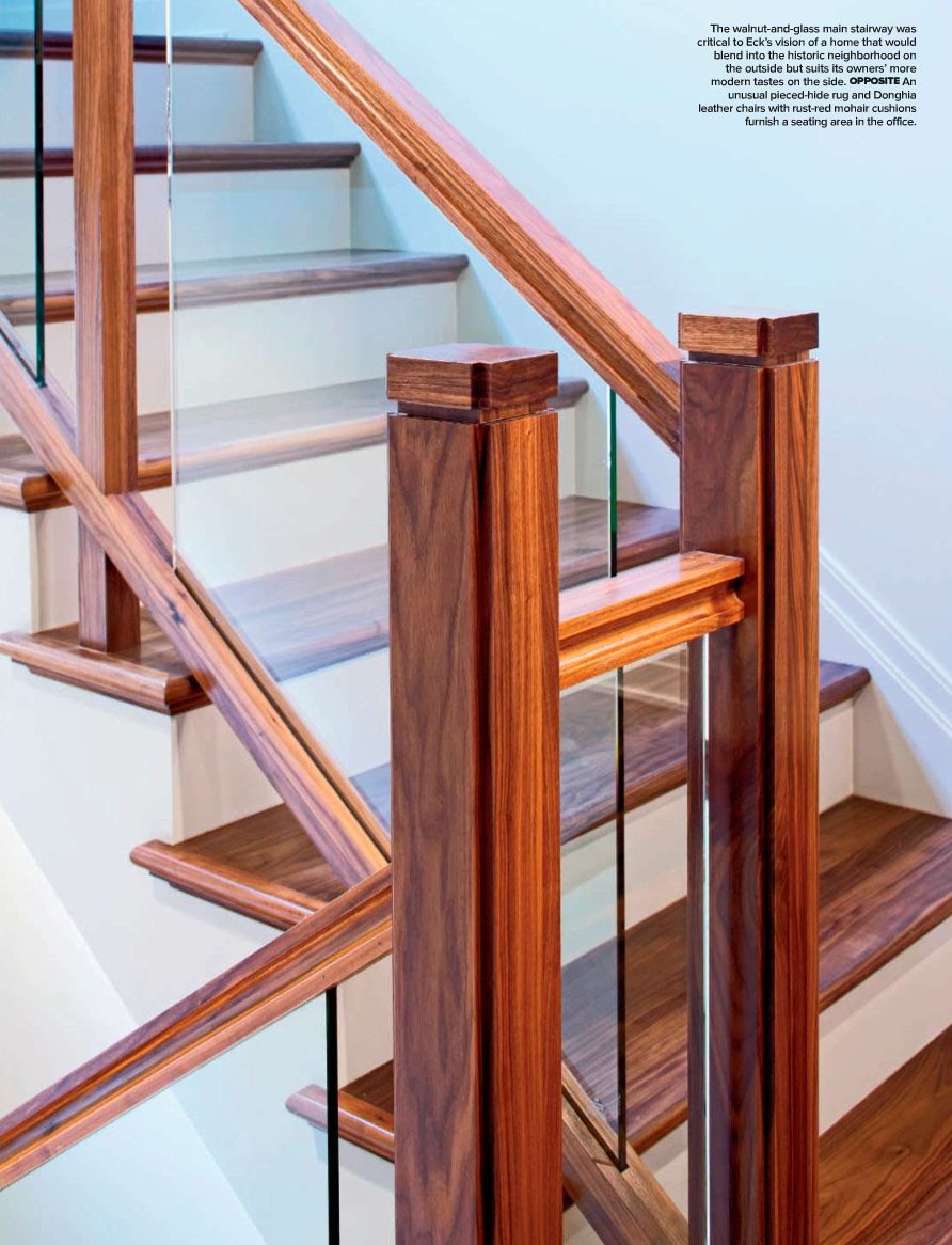 Best Walnut And Glass Staircase Architecture By Kim Haig 400 x 300