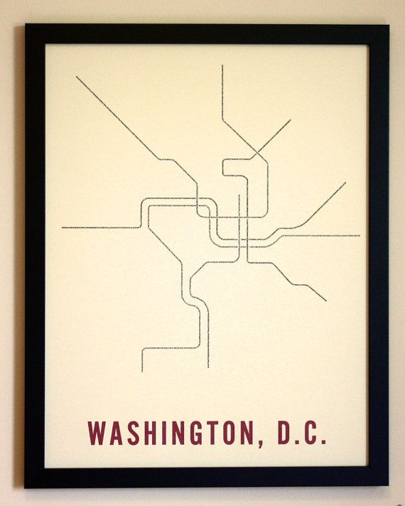 Subway Map Wall Art Endpoints.Dc Typographic Transit Poster By Fadeoutdesign On Etsy Art