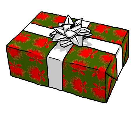 Pohutukawa wrapping paper