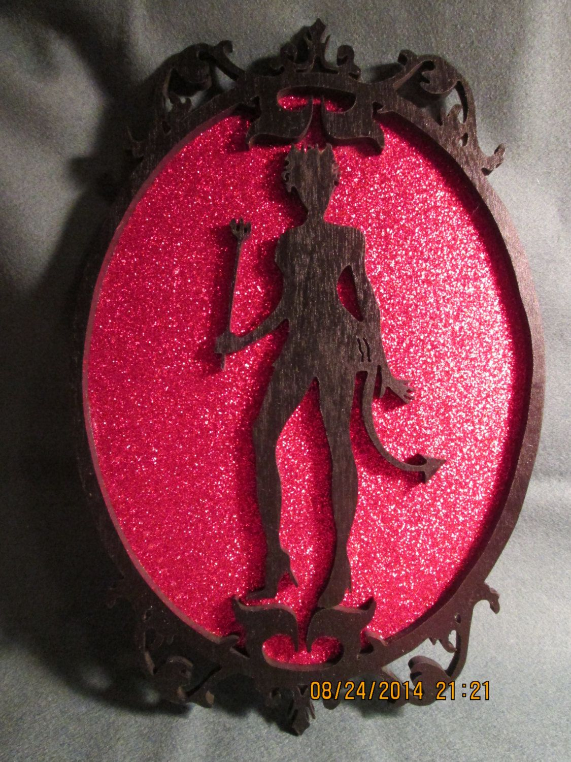 Silhouette She-Devil Portrait Wall Plaque Hanging Decoration (plaque holder not included) by PXWoodNJoys on Etsy