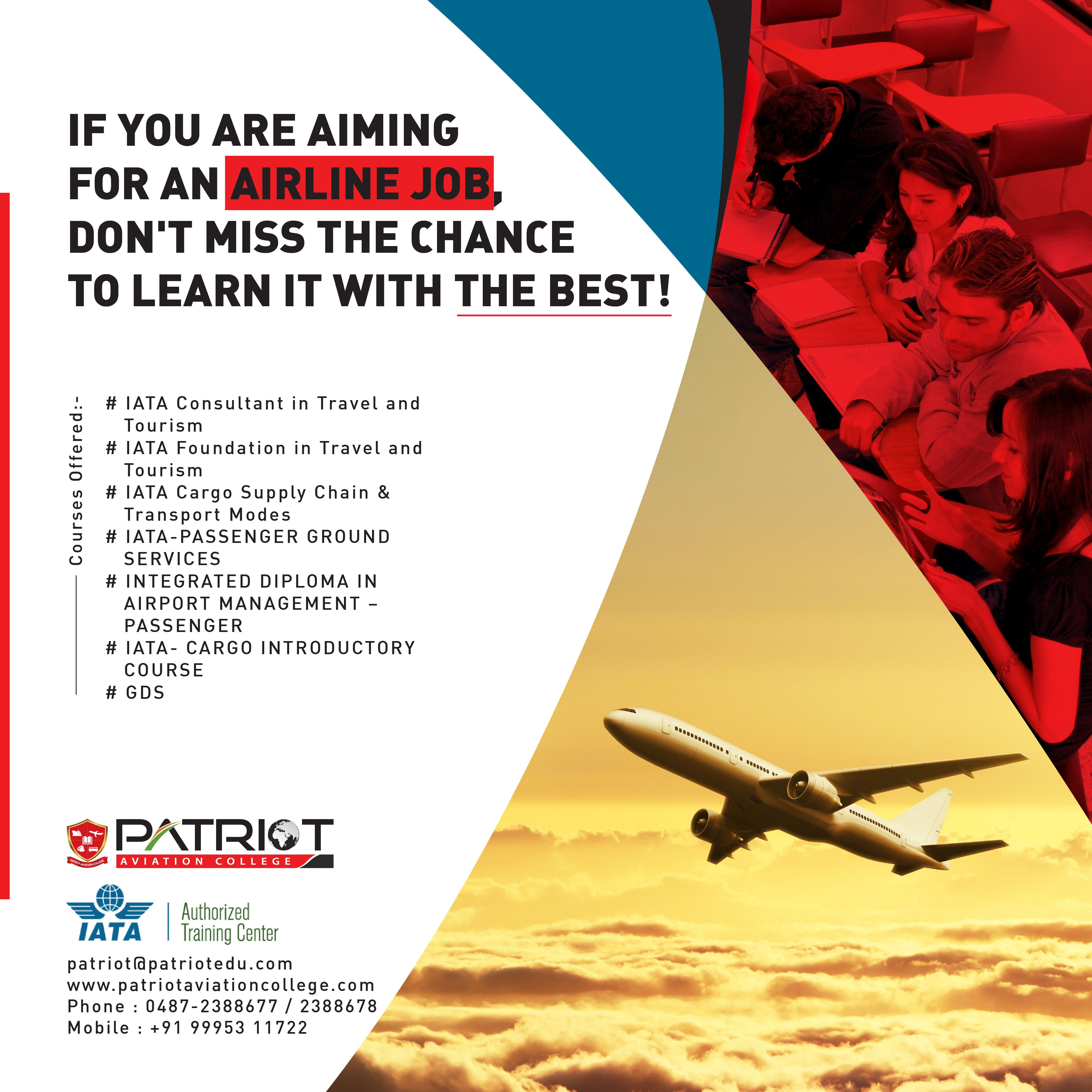 Join Patriot Aviation College For IATA Courses That