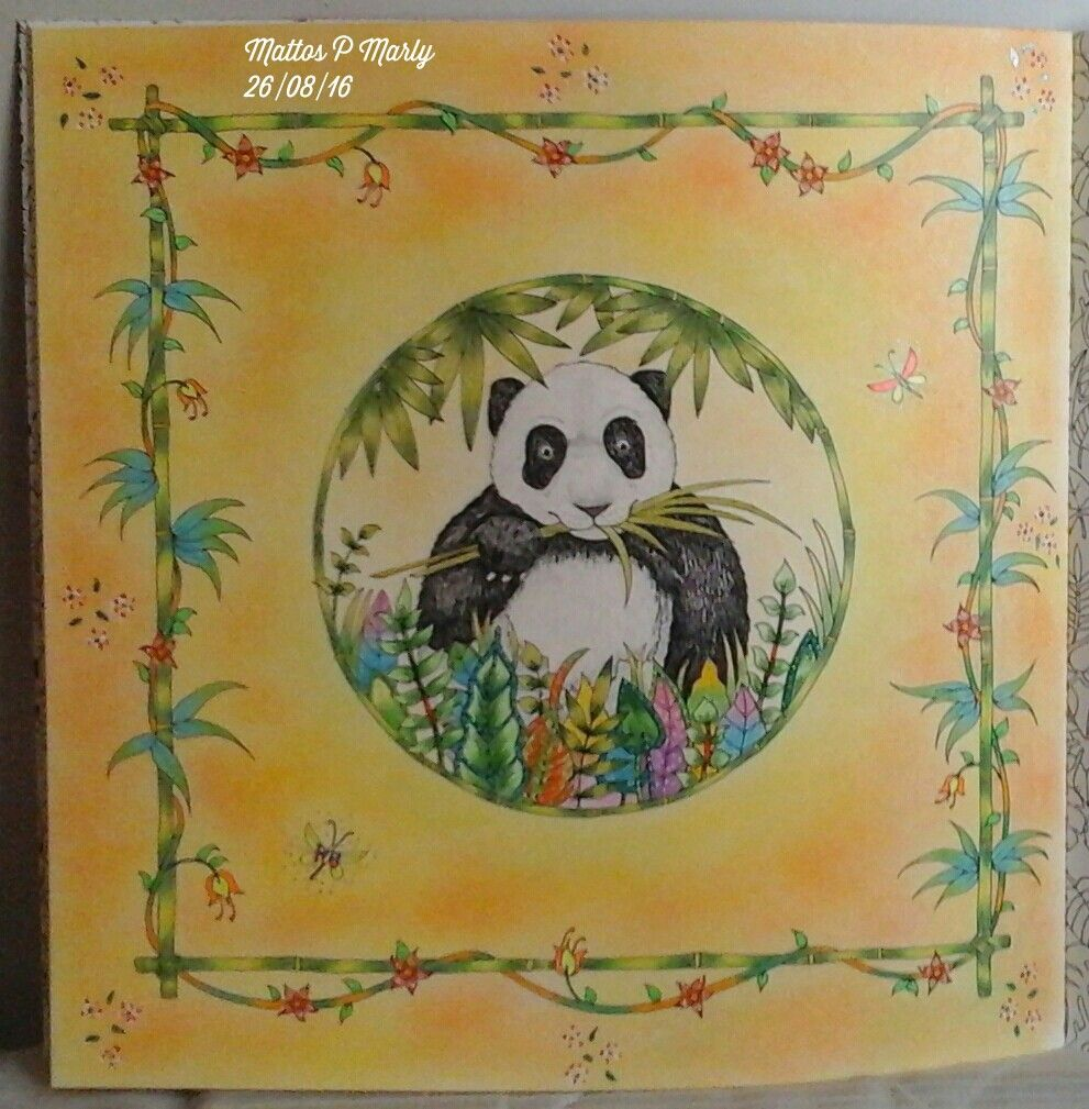 Magical Jungle_Panda Magical jungle johanna basford